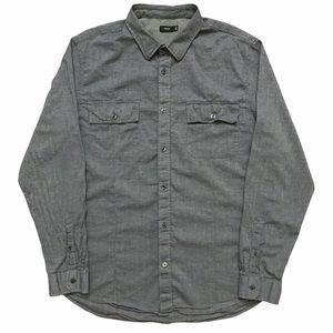 Vince Long Sleeve Shirt Gray XL
